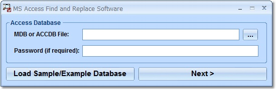 Screenshot of MS Access Find and Replace Software