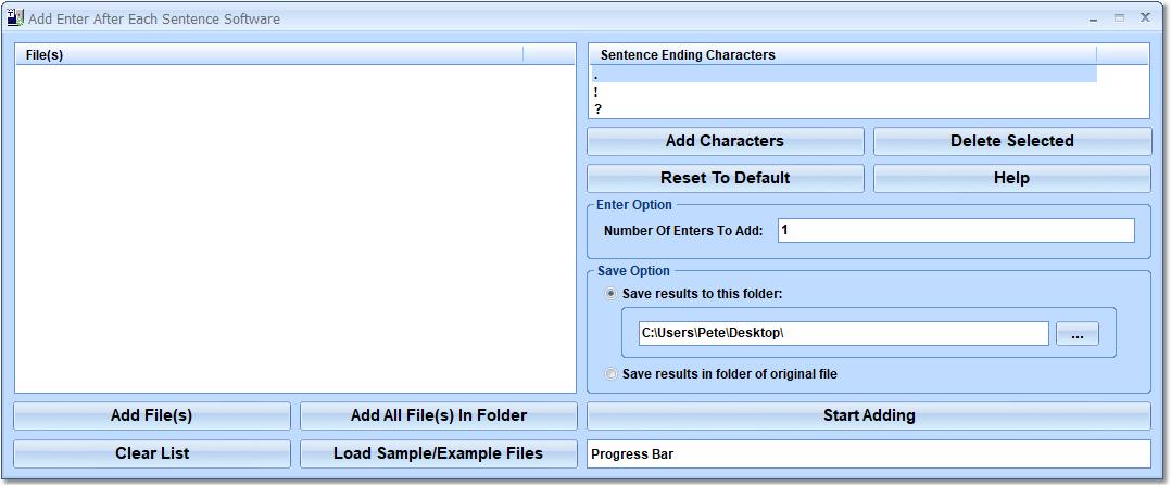 Add Enter After Each Sentence Software