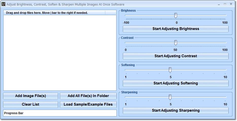 Click to view Adjust Brightness, Contrast, Soften & Sharpen Mult 7.0 screenshot