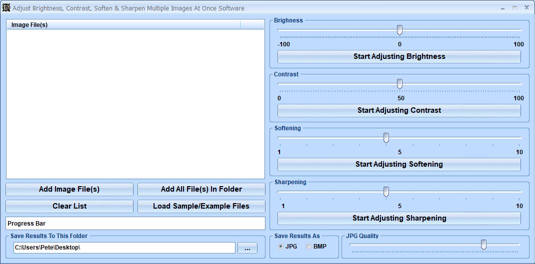 Windows 8 Adjust Brightness, Contrast, Soften & Sharpen Multiple Images At Once Software full