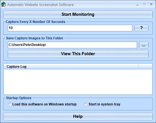 Windows 8 Automatic Website Screenshot Software full