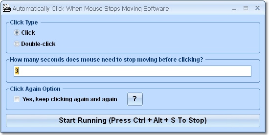 Automatically click when the mouse stops.