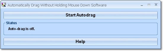Automatically drag the mouse without pressing