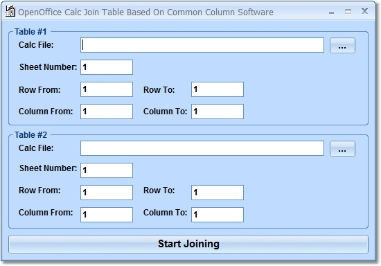 Combine two OpenOffice Calc tables into one based on a common column of data.