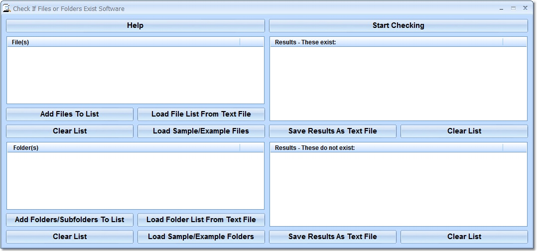 Check If Files or Folders Exist Software