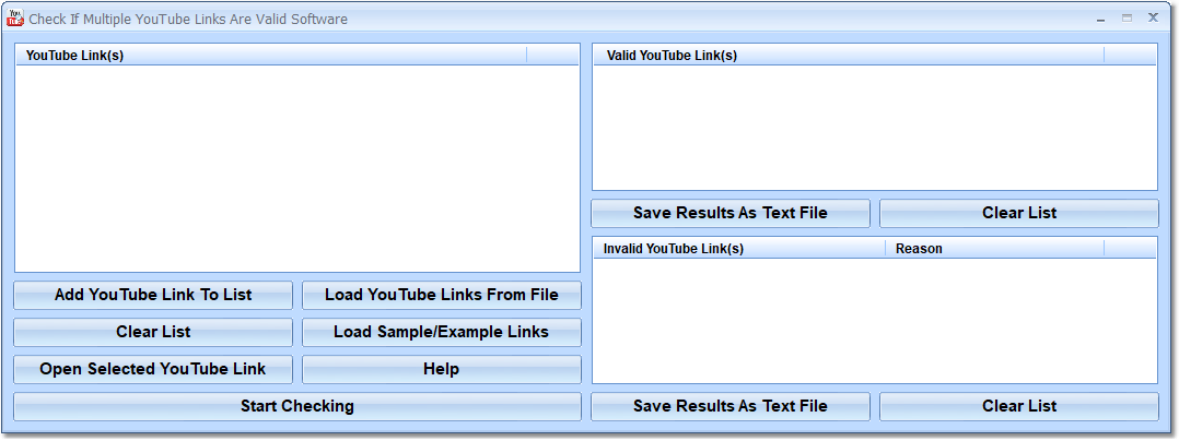 Check If Multiple YouTube Links Are Valid Software