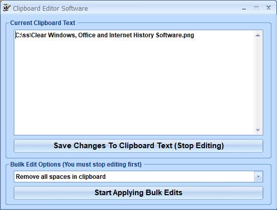 Clipboard Editor Software full screenshot
