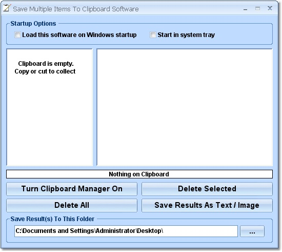 Click to view Clipboard Manager Software 7.0 screenshot