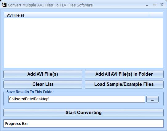 Windows 7 Convert Multiple AVI Files To FLV Files Software 7.0 full