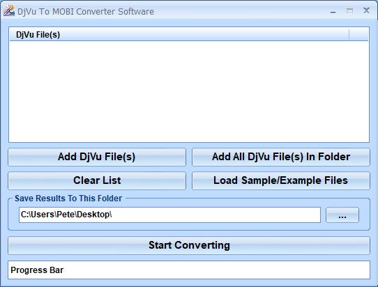 DjVu To MOBI Converter Software full screenshot