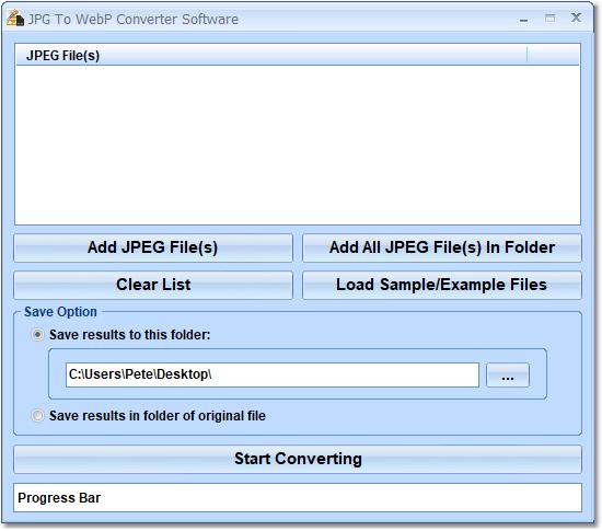 JPG To WebP Converter Software