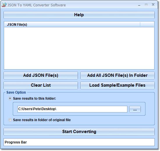 JSON To YAML Converter Software