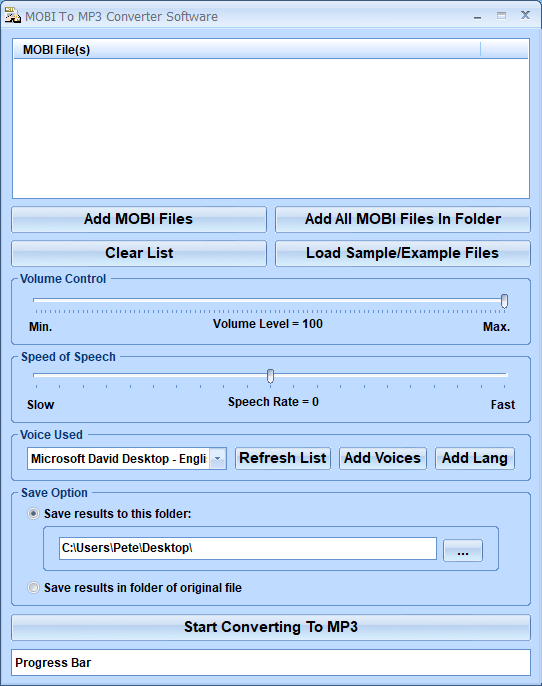 MOBI To MP3 Converter Software