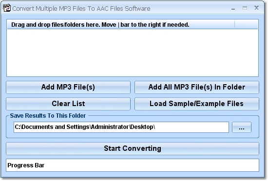 Create multiple AAC files from multiple MP3s.