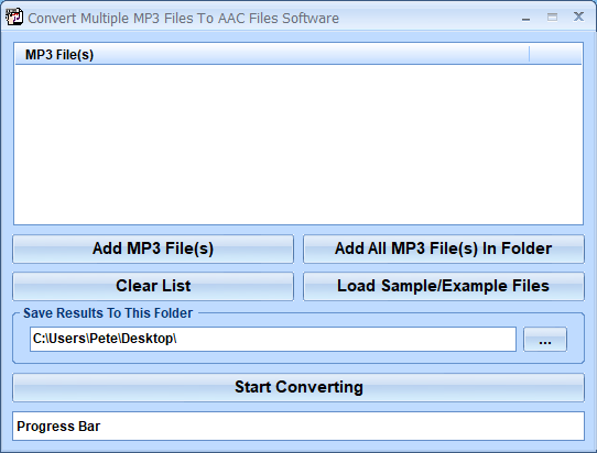Convert Multiple MP3 Files To AAC Files Software 7.0 full