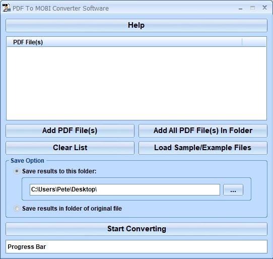 Windows 7 PDF To MOBI Converter Software 7.0 full