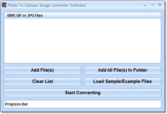 Create multiple cartoons from picture files.