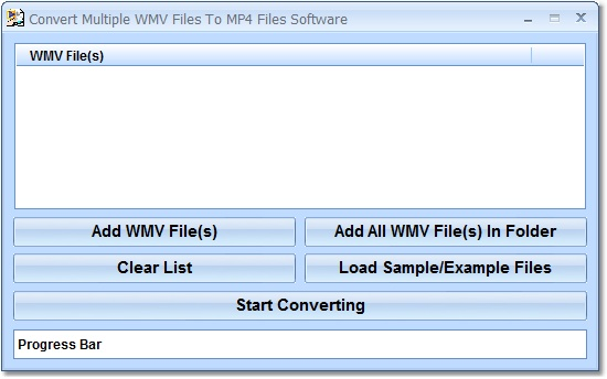 Create multiple MP4 video files from WMV.