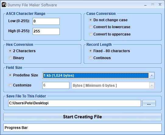 Windows 7 Dummy File Maker Software 7.0 full