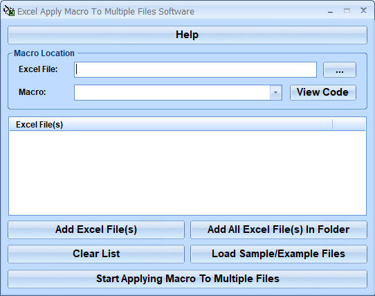 Excel Apply Macro To Multiple Files Software full screenshot