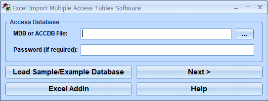 Excel Import Multiple Access Tables Software 7.0 full