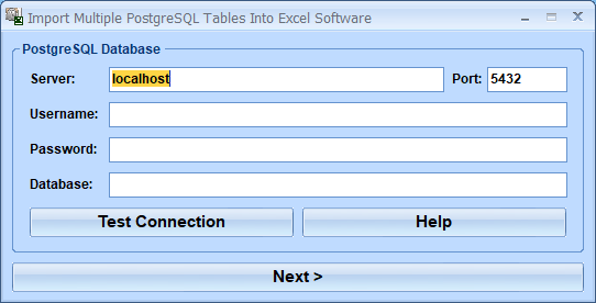 Windows 7 Import Multiple PostgreSQL Tables Into Excel Software 7.0 full