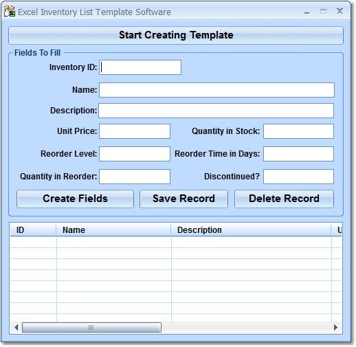 excel inventory list template software 7 0 download. Black Bedroom Furniture Sets. Home Design Ideas