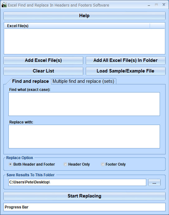 Windows 7 Excel Find and Replace In Headers and Footers Software 7.0 full