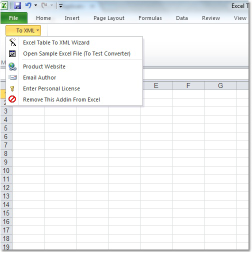 Windows 7 Excel Table To XML Converter Software 7.0 full