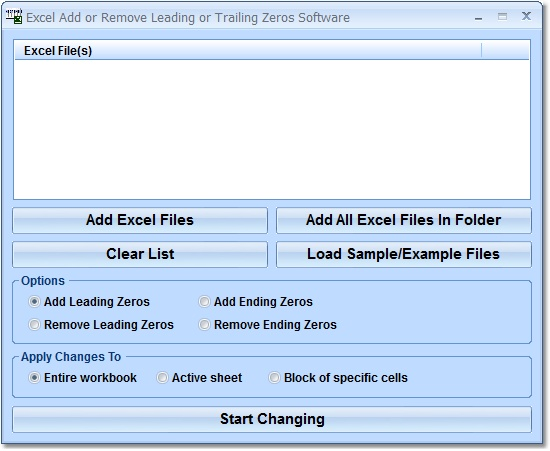 Excel Add or Remove Leading or Trailing Zeros Soft