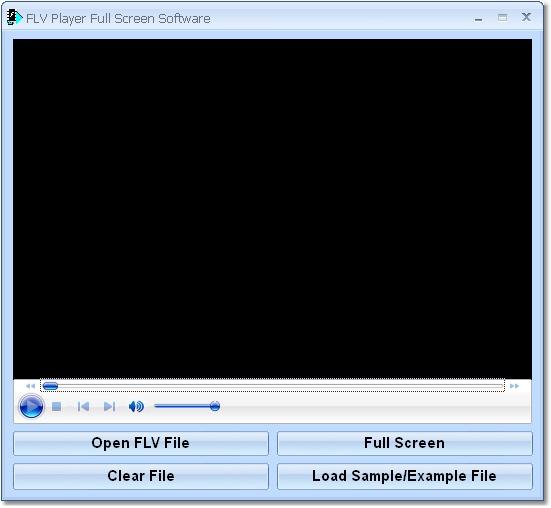 FLV Player Full Screen Software 7.0