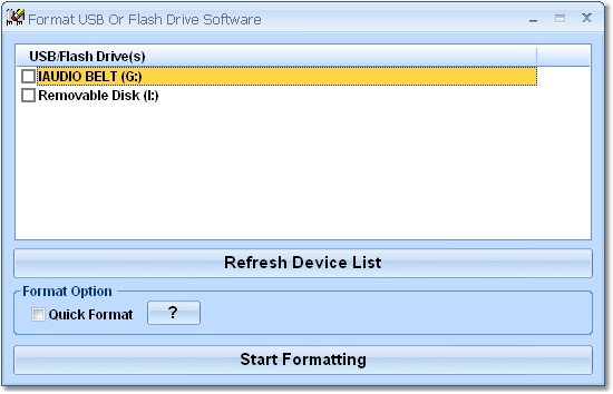 Format multiple USB or flash drives.