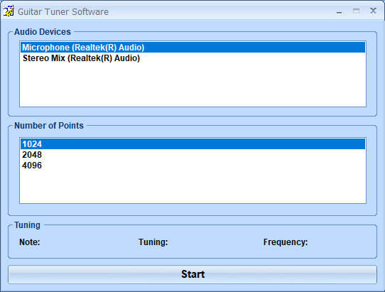 Guitar Tuner Software full screenshot