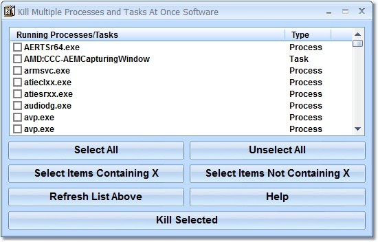End multiple processes or tasks at once.