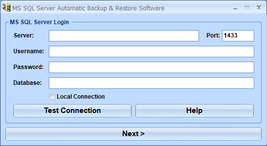 Windows 7 MS SQL Server Automatic Backup & Restore Software 7.0 full