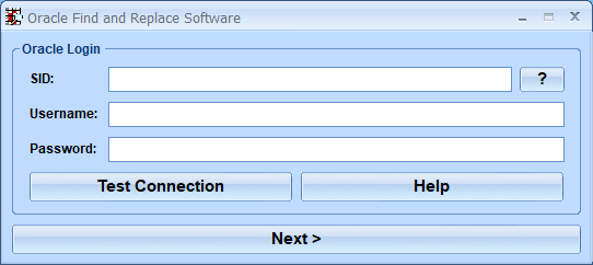 Oracle Find and Replace Software