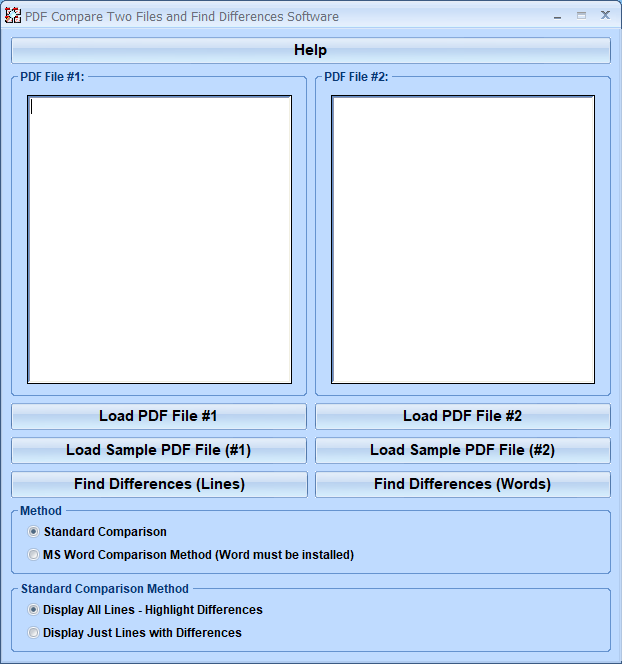 Click to view PDF Compare Two Files and Find Differences Softwar 7.0 screenshot