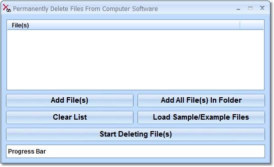 Delete files forever.