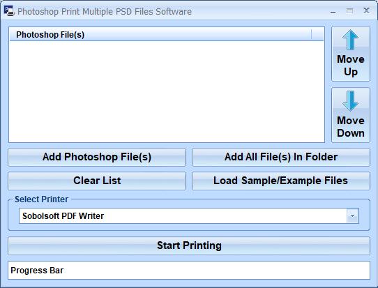 Photoshop Print Multiple PSD Files Software full screenshot