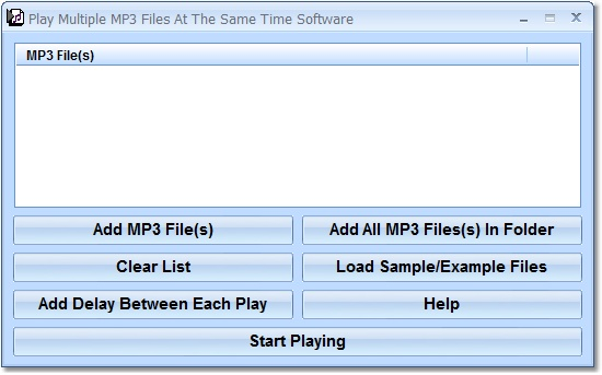 Play many specified MP3's at once.