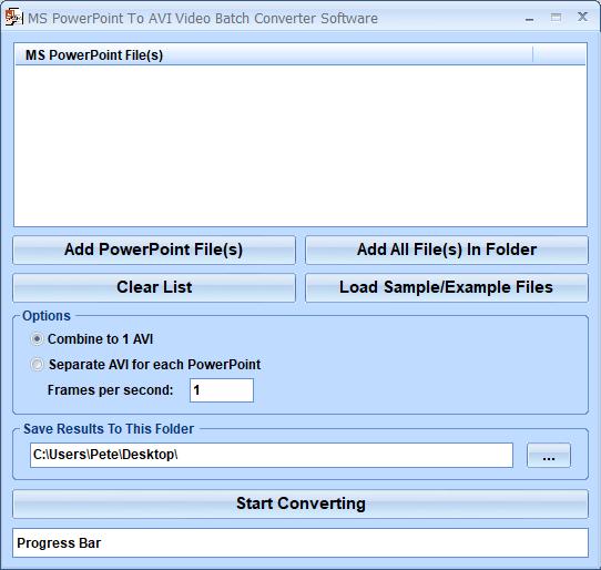 Windows 7 MS PowerPoint To AVI Video Batch Converter Software 7.0 full