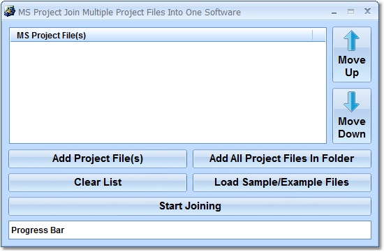 Click to view MS Project Join Multiple Project Files Into One So 7.0 screenshot