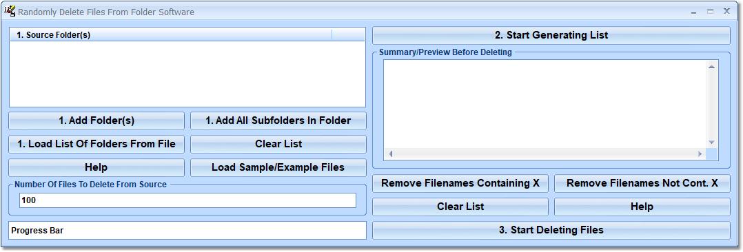 Randomly Delete Files From Folder Software full screenshot