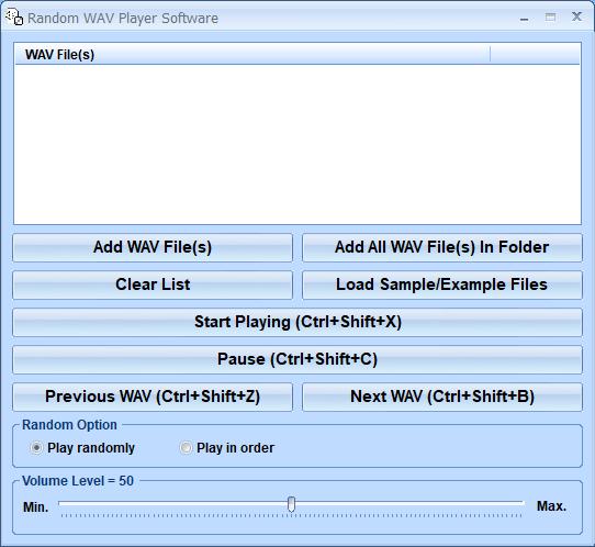 Windows 7 Random WAV Player Software 7.0 full