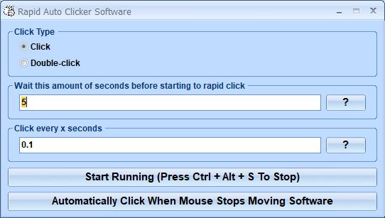 Rapid Auto Clicker Software full screenshot