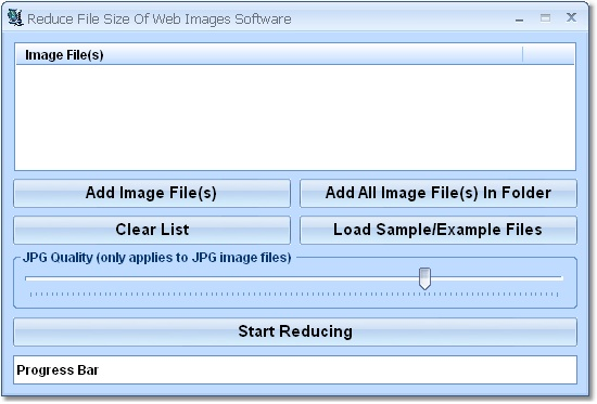 Compress file size of one or more web images.