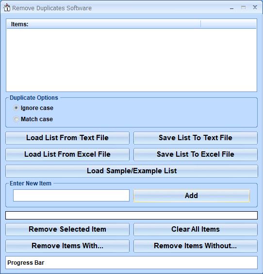 Remove Duplicates Software