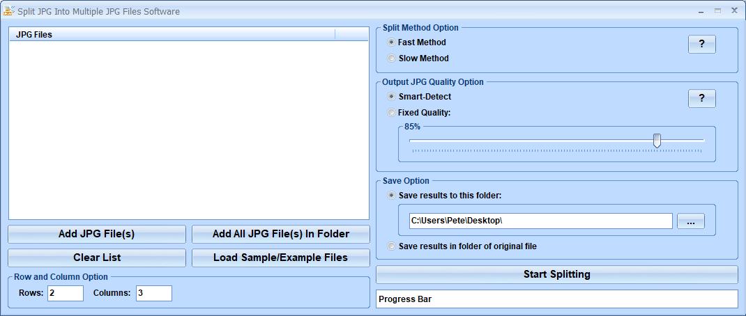 Windows 7 Split JPG Into Multiple JPG Files Software 7.0 full