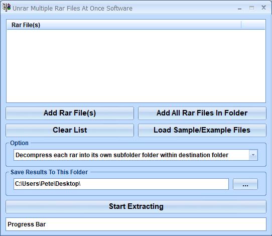 Unrar Multiple Rar Files At Once Software screenshot - Windows 8