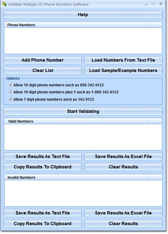 Validate Multiple US Phone Numbers Software